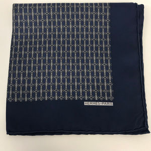 ❤️SOLD❤️ Hermes Silk Pocket Square Handkerchief